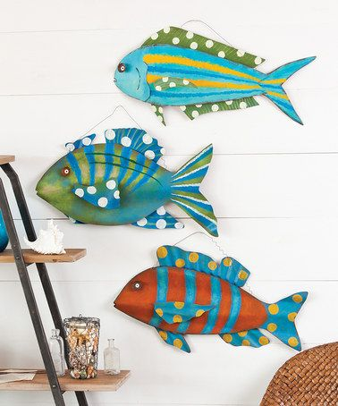 Attirant Love This 3 D Fish Wall Décor   Set Of Three On #zulily!