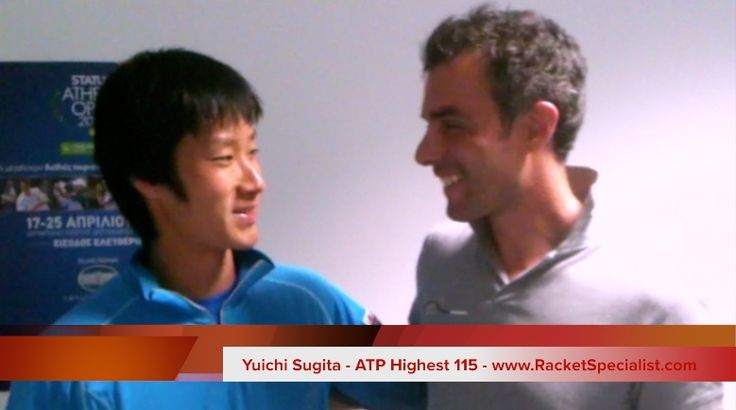 World's No115 Yuichi Sugita comments racketspecialist.com stringing service