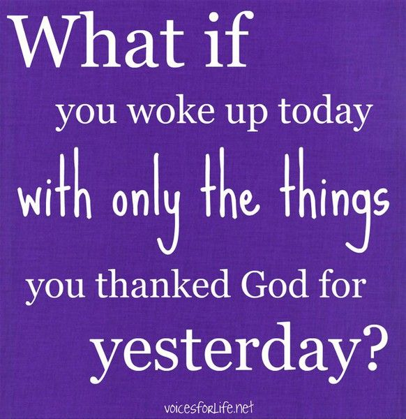 What a great reminder of how easy it is to take our blessings for granted. ALWAYS be thankful!
