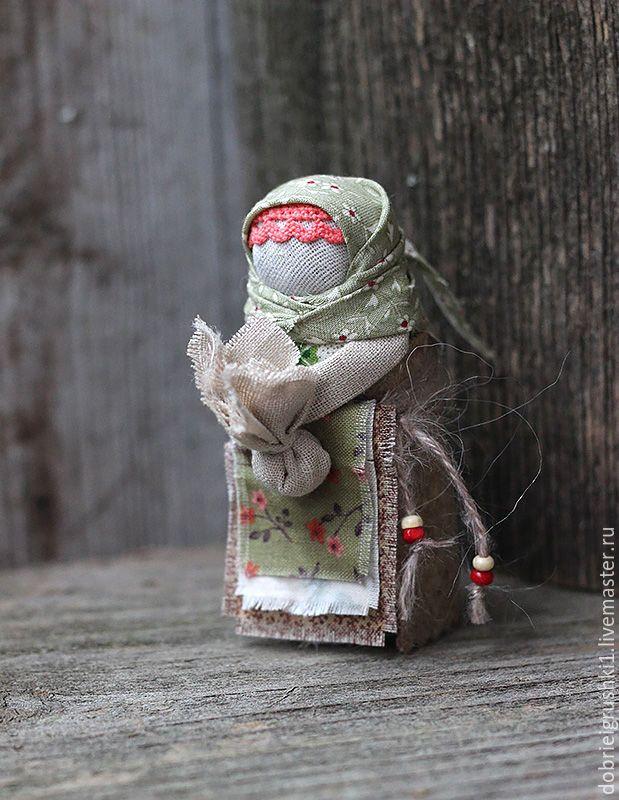 Подорожница - оливковый, кукла ручной работы, кукла, оберег, обережная кукла, оберег для мужчины