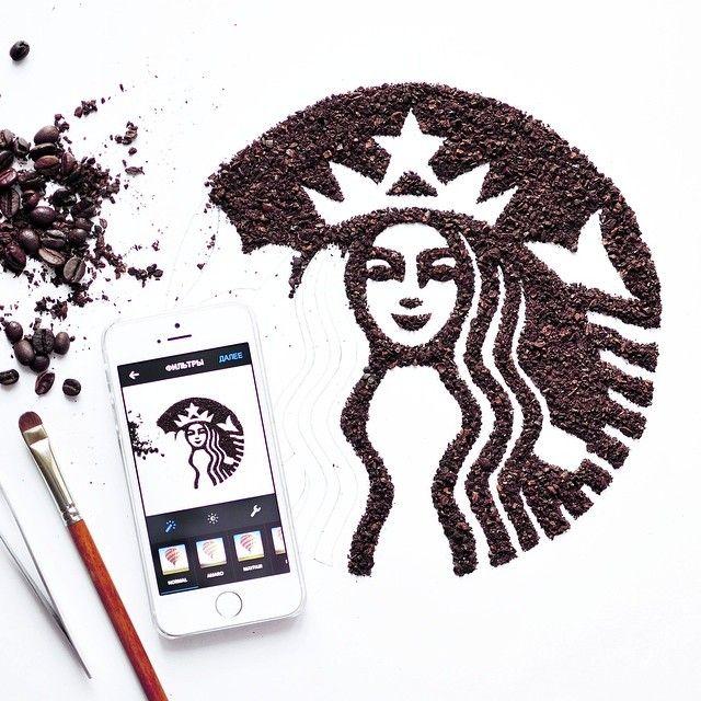 Creative Food Art by Daryna Kossar (Starbucks)
