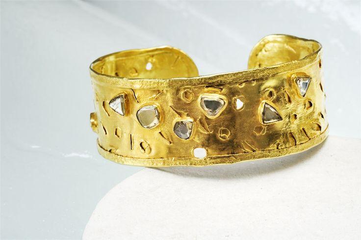 Diamond and Gold Cuff