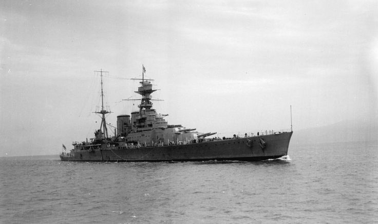 HMS Hood, entering Vancouver Harbour.