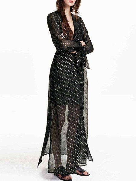 Paneled Side Slit Midi Dress