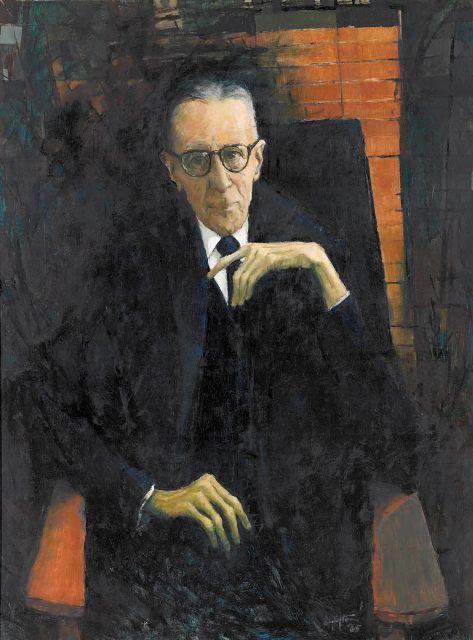 Clifton Pugh ~ Portrait of R.A. Henderson, 1965