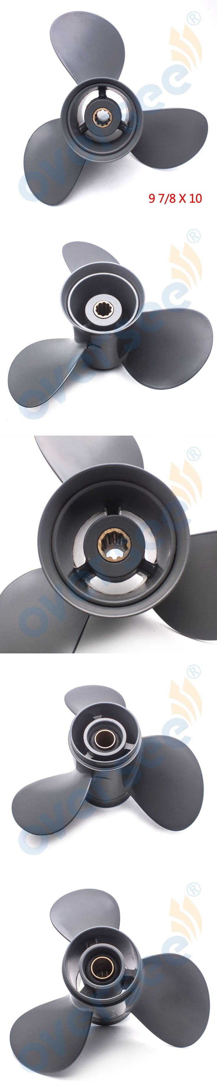 Aluminum Outboard Propeller 9 7/8x10 for HONDA OUTBOARD ENGINE MOTOR 25-30HP 58130-ZV7-010AH