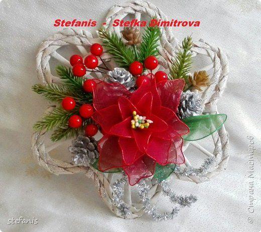 Поделка изделие Новый год Плетение у меня такие венки на двер получилис Бумага газетная Трубочки бумажные фото 7