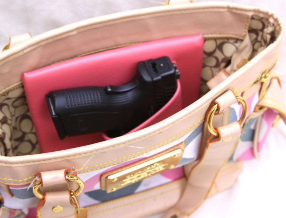 Large Auto Pink Concealed carry purse holster by CreativeConceal