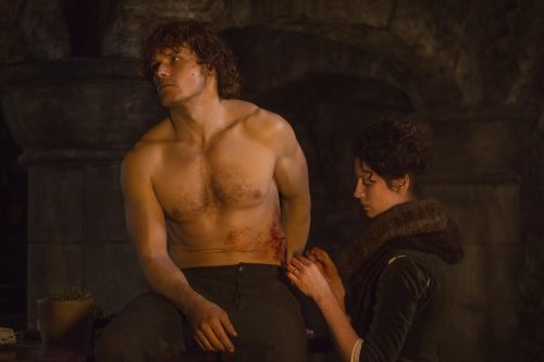 """#Outlander Season 1x10 """"By The Pricking Of My Thumbs"""" The Reckoning"""" #JamieFraser #SamHeughan #ClaireFraser #CaitrionaBalfe"""