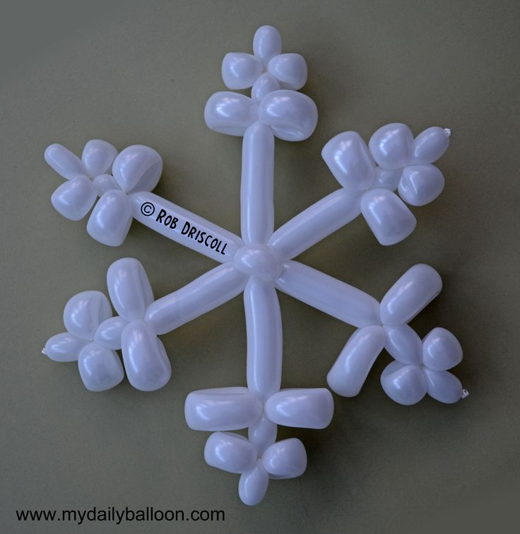 "Party kids love balloon animals. How 'bout balloon snowflakes?! Love it. Saving for ""Parties by Erin"", my pal who dresses like Elsa AND Anna at childrens' parties - simply the best in affordable kids entertainment."