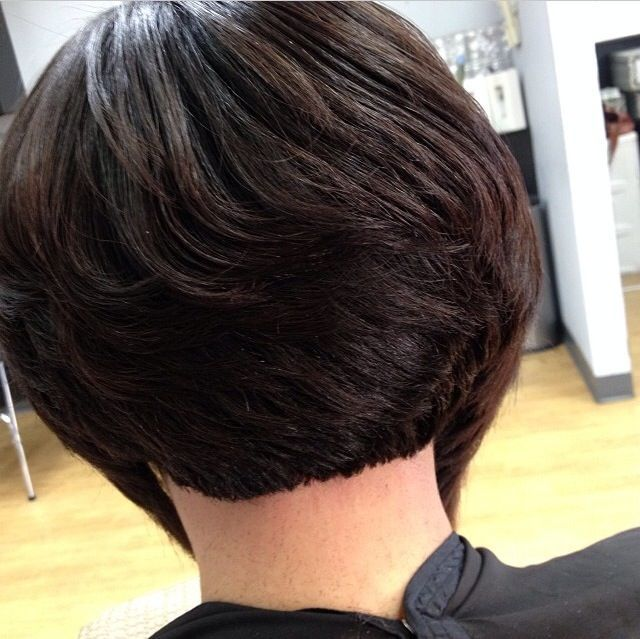 short bob hairstyles for black women back view