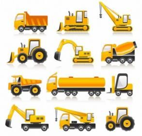 Free Vector Construction Vehicles Collection
