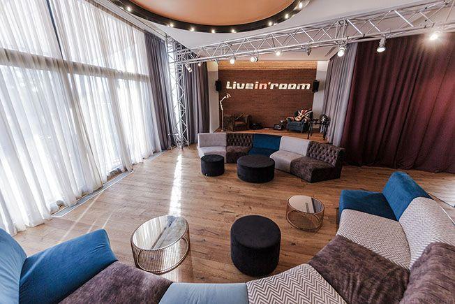 Open plan living with entertainment area, Backstage concept - Apartment M, Bucharest