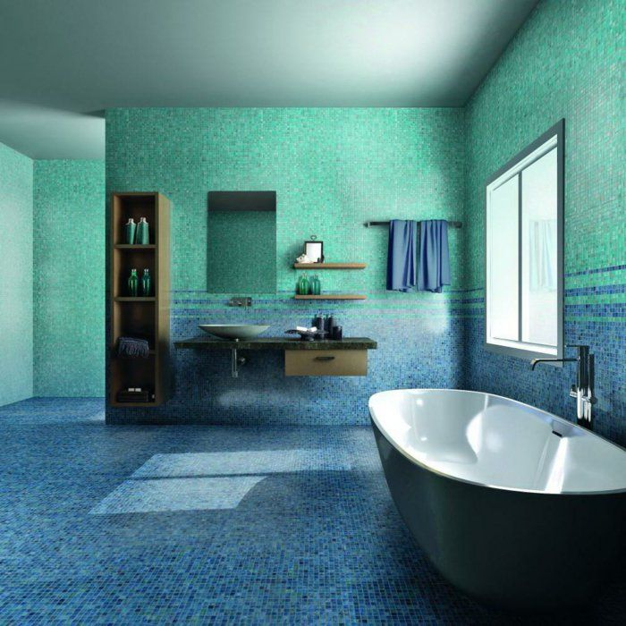 tolles badezimmer blau mosaik cool bild oder fcdaeabea mosaic bathroom mosaic tiles