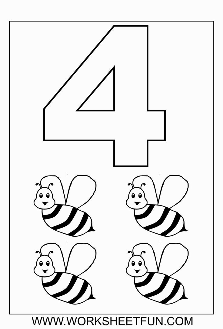 Coloring pages end of school year - Number 3 Coloring Sheet