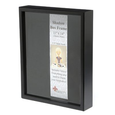 Latitude Run Shadow Box Picture Frame Picture Size 11 X 14 Finish Black In 2020 Box Picture Frames Shadow Box Picture Frames Shadow Box
