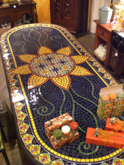 25 best ideas about mosaic tile table on pinterest tile tables tile top tables and garden table - Basics mosaic tiles patios ...