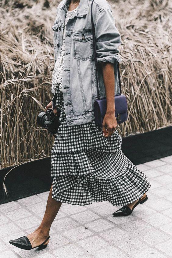 Cascade skirt variation idea: add ruffle hem