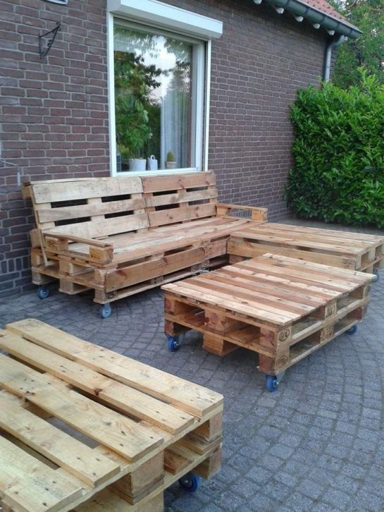 15 best images about outdoor garden on pinterest pallet sectional pallet bank and pallet ideas - Bank voor pergola ...