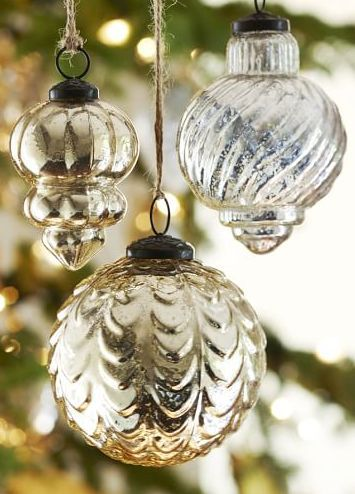 beautiful mercury glass ornaments