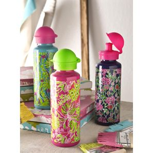 $14.95 Lilly Pulitzer Water Bottles - These fun Lilly Pulitzer stainless steel water bottles conform to and exceed US safety standards. And being metal water bottles, you won't have to worry about them becoming cloudy over time. Dishwasher Safe, BPA free, phthalate free and lead free, 20 oz