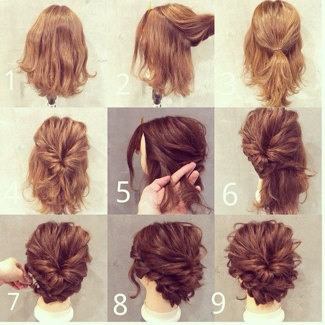 Updo Hairstyles For Short Hair 293 Best Bob Images On Pinterest  Hair Ideas Hairstyle Ideas And