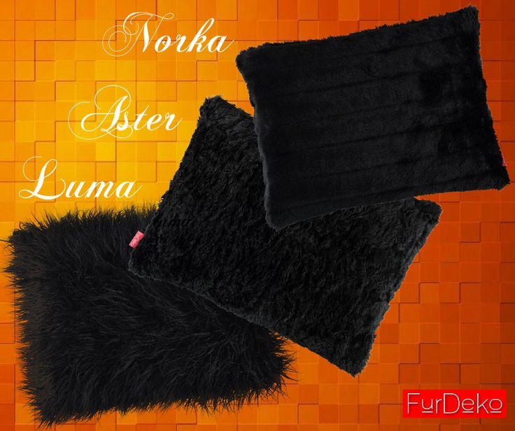 Nasze futrzane piękności w kolorze czarnym to LUMA, ASTER i NORKA Emotikon smile  Którą wybieracie? www.furdeko.pl