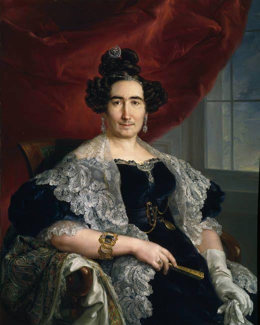 La señora de Delicado de Imaz. Vicente López y Portaña. Retratada con todo lujo de detalles, no tuvo reparos en pintarle la negra pelusilla del labio superior