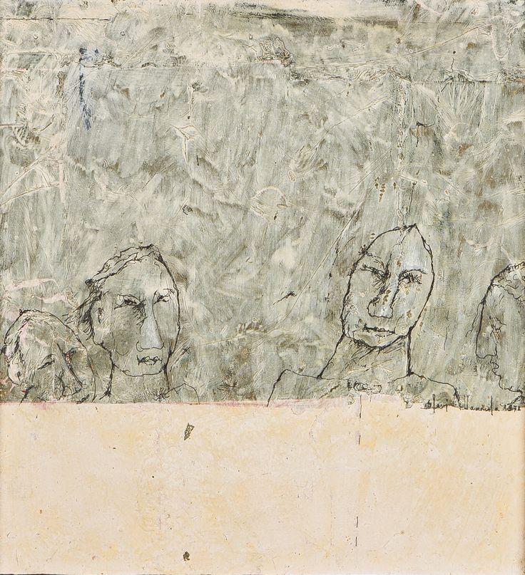Olavi Vaarula, 1971, öljy, 27x26 cm - Hagelstam A137