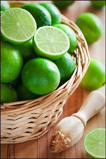 Always keep fresh limes  lemons, squeeze onto/into everything for flavor!  store citruses (limes, lemons, oranges) in big glass bowl on counter for pop of color.  i love oranges as a snack!