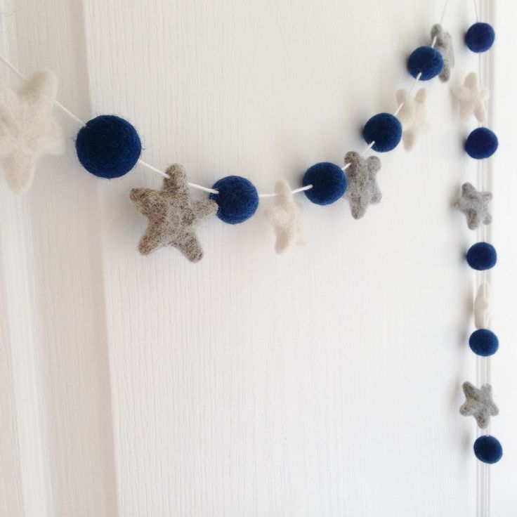 Image of Stone and Co Felt Star Garland Custom