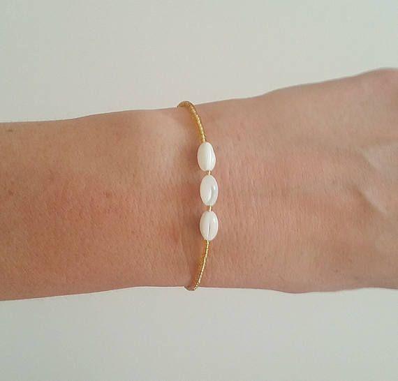 Pearl Bracelet Nacre Bead Bracelet Bead BraceletTiny