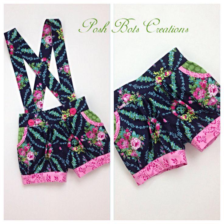 New suspender shorts in Jennifer Paganelli Beauty Queen  www.facebook.com/poshbotscreations