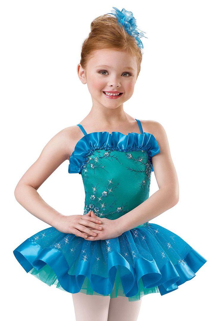 Blue dress dance costume overalls