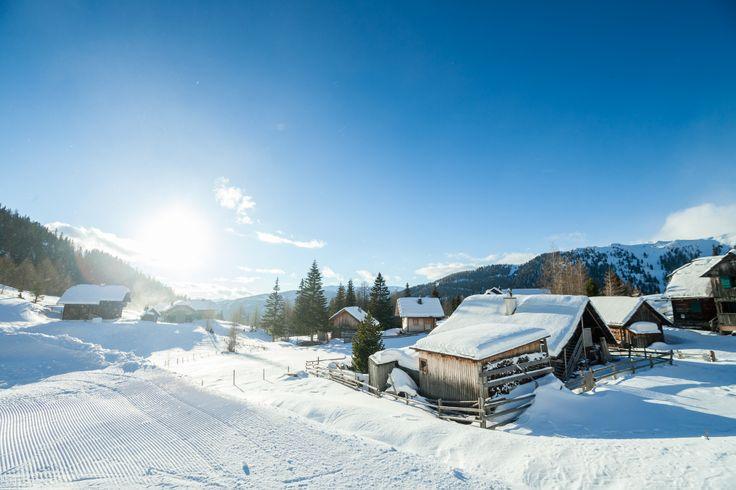 Sonnenverwöhnte Hütten in der Scharte