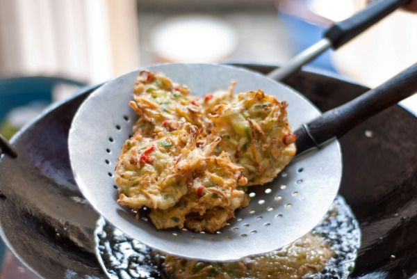 Indonesian vegetable fritter, Step by step
