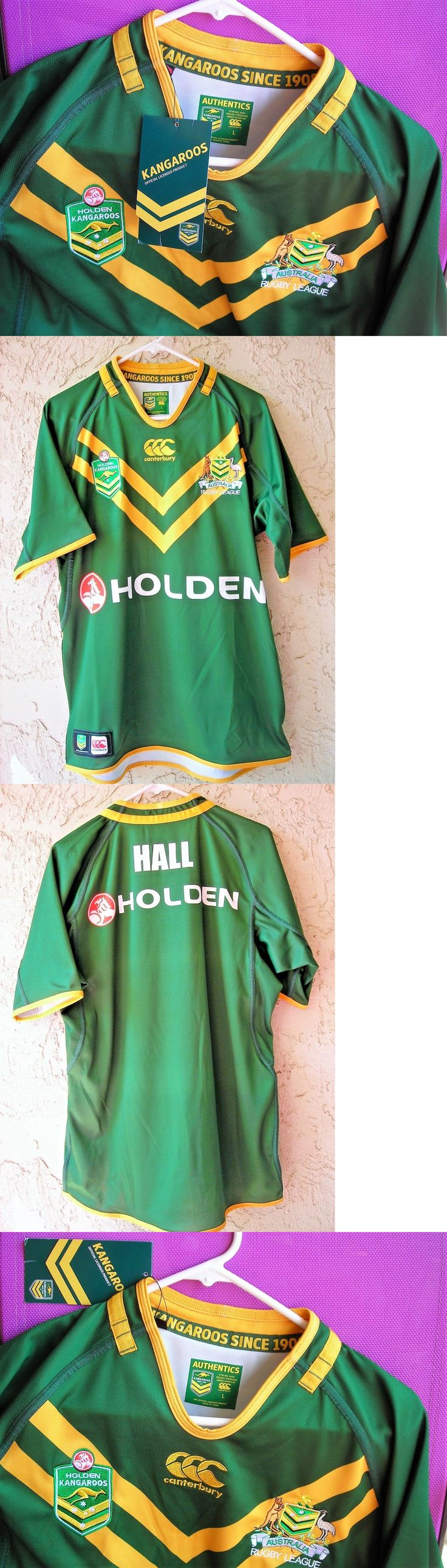 Rugby 21563: Australian Holden Kangaroos Rugby League Mens Classic Jersey Size Large Nwt -> BUY IT NOW ONLY: $59.99 on eBay!