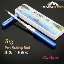 New Small Sea Monster Carbon Portable Pocket Telescopic Fishing Pole Aluminum Big Pen Shape Fishing Rod 6Colors Hot Selling
