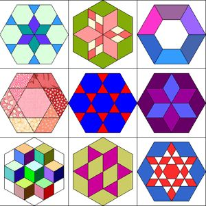 125 best images about English Paper Piecing on Pinterest | Quilt ... : hexagon star quilt pattern free - Adamdwight.com