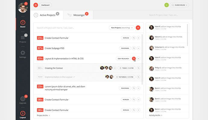 20 Cool Dashboard Designs | Bashooka | Cool Graphic & Web Design Blog