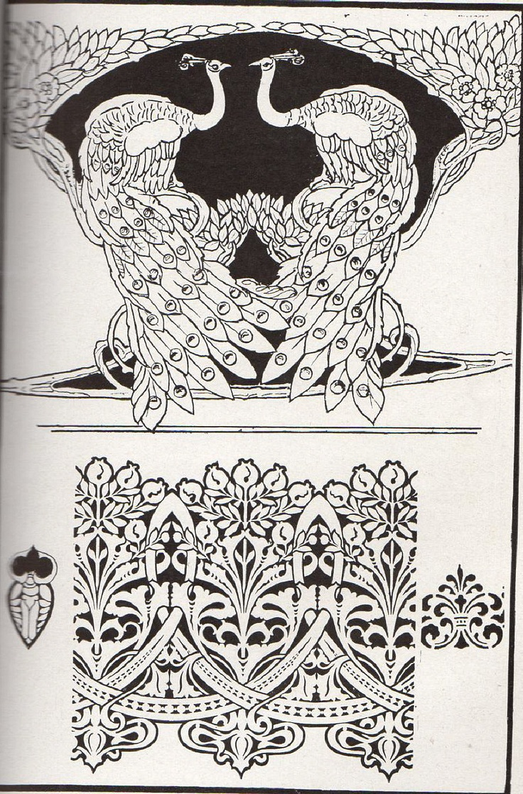 Page from Art Nouveau Design Art Book