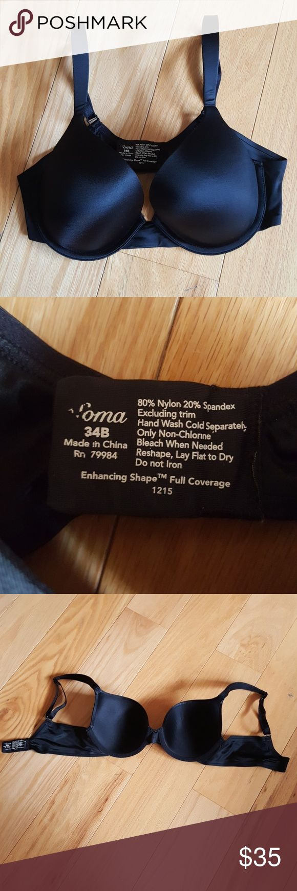 SALE Soma Enhancing Shape Full Coverage Bra > From A Smoke and Pet Free Home  > No imperfections  > Hand wash & Hang to dry > Eliminates gaps at the neckline with top shaping pad. > Restores natural shape. > Contour underwire cups provide lift and support. > Offers a solution for gaping neckline. > T-shirt bra provides a smooth appearance under clothing. > Comfort straps relieve shoulder discomfort and help prevent dig in. > 3 Cushioned hook & eye closure for comfort. > 80% nylon, 20%…
