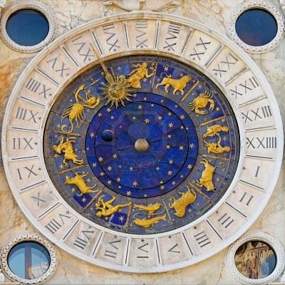 Zodiac Clock San Marco Square, Venice.