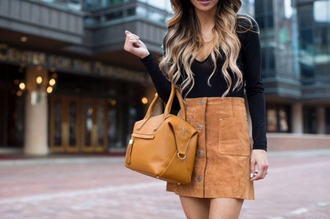 Camel Suede Skirt. - Mia Mia Mine