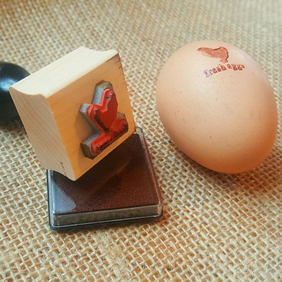Mini Fresh Eggs Ink Stamp for Eggs plus Mini Non-Toxic Ink Pad by FreshEggsDaily -- this is very cute for chicken-lovers