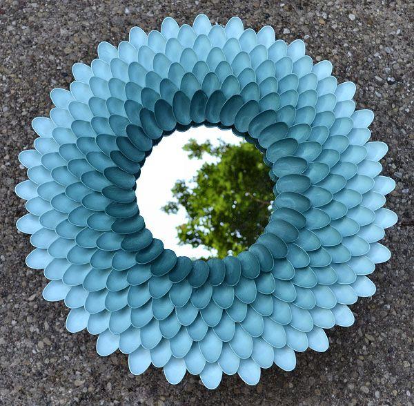 Cолнце из пластиковых ложек – стильное зеркало своими руками. - 21 Мая 2012 - Блоги пользователей - М-Е-Т-Р