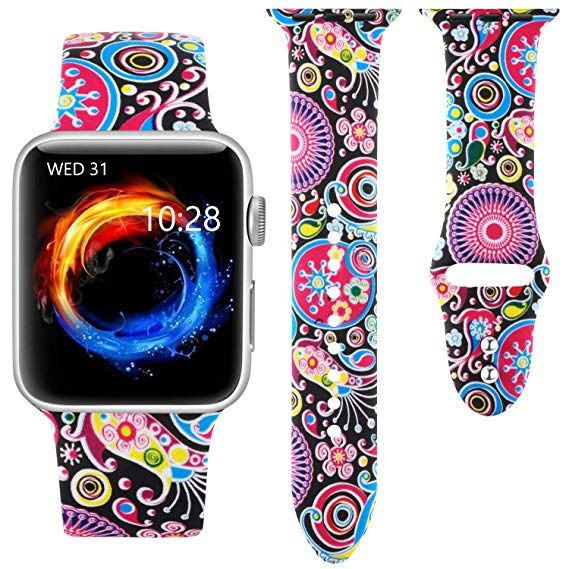 9 99 Haveda Floral Bands Compatible With Apple Watch Band 38mm
