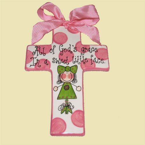 78 best christian baby gifts images on pinterest baby gifts baby personalized cross for girl 3600 negle Choice Image