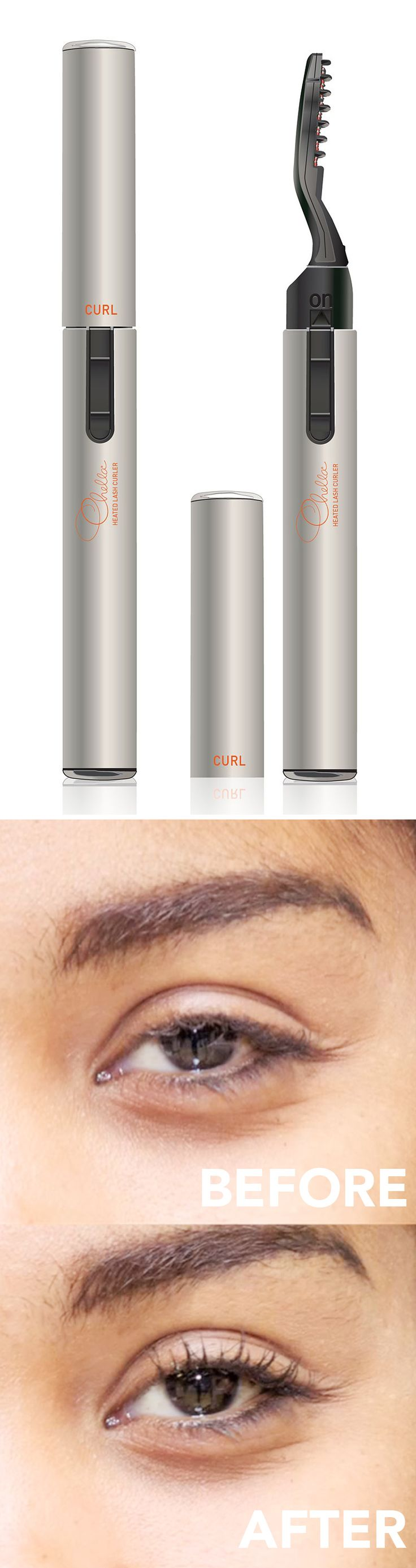 Heated Lash Curler - use after you apply mascara. I need to try this.