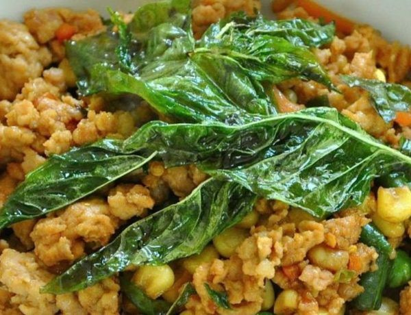 Quick And Healthy Recipe Of Minced Chicken With Hot Basil At Home